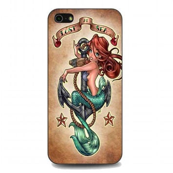 Tattooed Disney Princess ariel the little mermaid For iphone 5 and 5s case