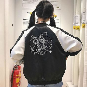 Sailor Moon Embroidery Bomber Jacket