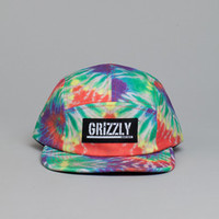 Flatspot - Grizzly Stamp Tie Dye 5 Panel Cap Sunburst