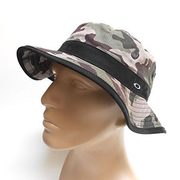 Oakley Men's One Size The O Bucket Tactical Hat Cap - Olive Camo