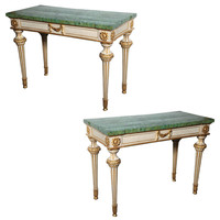 Yew Tree House Antiques - Fine Pair of 18th Century Italian Neoclassical Console Tables - 1stdibs