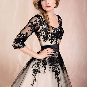Sexy Short Lace Cocktail Dresses with Sleeves Beautiful Women Prom Coctail Dress for Party jurk vestidos de coctel
