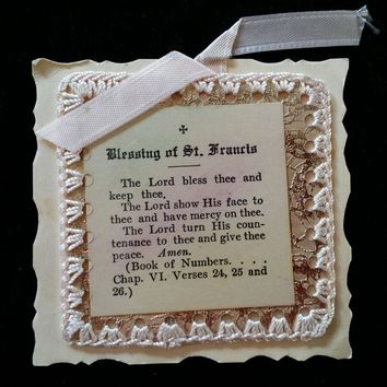 Blessing of Saint Francis Keepsake