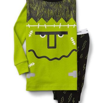 Glow-in-the-dark monster sleep set | Gap
