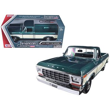 1979 Ford F-150 Pickup Truck 2 Tone Cream 1:24 Diecast Model Car by Motormax