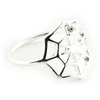 Spider Web Ring Silver Tone Gothic Outline Statement RM06 Fashion Jewelry