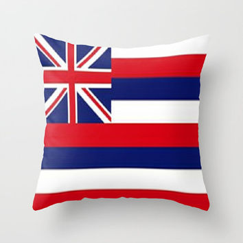 Hawaii State Flag Throw Pillow Hawaii Pillow Flag Decorative Pillow Aloha State Pillow Home Decor Flag Pillow Hawaii Island Pillow Stripes