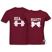Couple T-Shirt Beauty and the Beast  Boyfriend Girlfriend