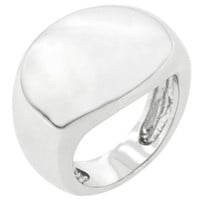 Liquid Silver Fashion Ring, size : 05
