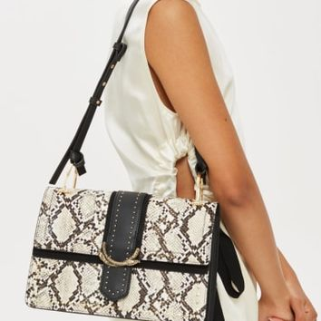 Topshop Suri Snake Effect Shoulder Bag | Nordstrom