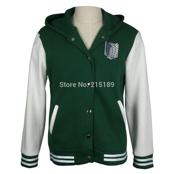 Men Women shingeki no kyojin attack on titan jacket  fashion casual hoodies Sweatshirt cosplay anime costume for lovers