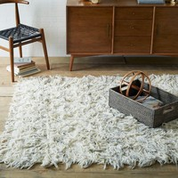 Chevron Wool Shag Rug