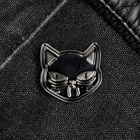 Sad Cat Enamel Pin Badge