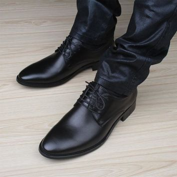 Mens casual shoes luxury genuine leather flats business formal shoes mens party dress oxfords shoes zapatos hombre