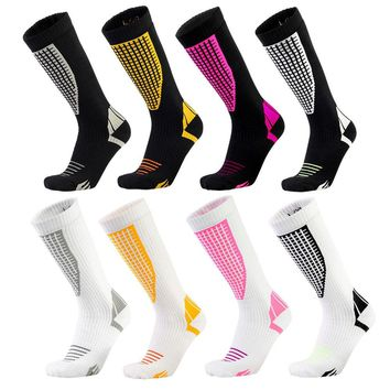 New Winter Mens Compression Socks Super Elastic Leg Warmers Sports Socks Male Quick Dry Breathable Skiing Thicken Socks