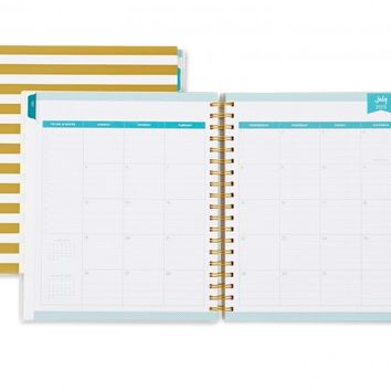 day designer gold stripe daily monthly 8 from blue sky day