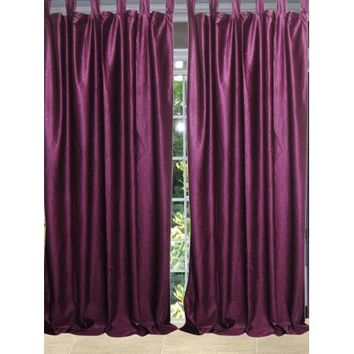 Mogul Bohemian Décor Purple Curtains Drape 2 Panels Window Treatment (96x48) - Walmart.com