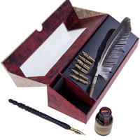 Feather Pen and Quill Set