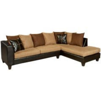 Riverstone Sierra Chocolate Microfiber Sectional
