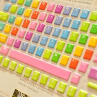 Rainbow Color Keybaord Protective Film from 1Point99.com