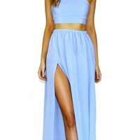 VIENNA SKY - TWO PIECE GOWN
