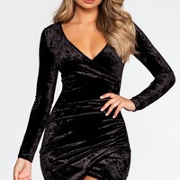 Cece Velvet Dress - Black