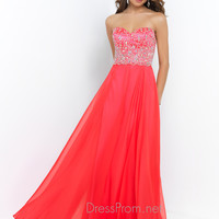 Strapless Blush Sweetheart Neckline Prom Dress 9985