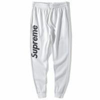 Supreme autumn tide brand hip hop casual men's pants pants sports fashion pants white