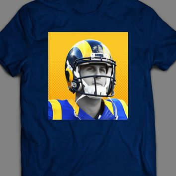 LOS ANGELES RAM'S JARED GOFF POP ART T-SHIRT