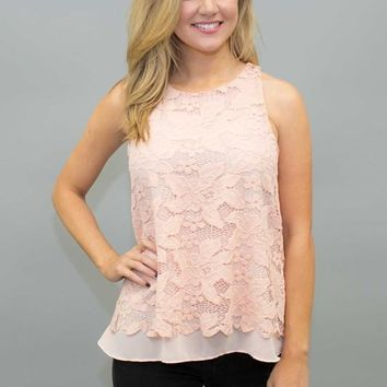 Lace Scallopped Hem Top
