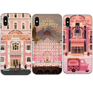 Phone Cases Cartoon Wes Grand Budapest Hotel Hard PC Cover Case for iPhone X 10  8 8Plus 7 7Plus 6 6S Plus 5 5S SE Coque Shell