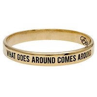 Ettika Bangle What Goes Around Comes Around in Gold