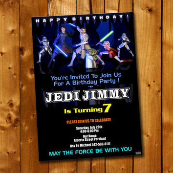 Star Wars  Birthday, Birthday Invitation, Birthday Party for little boy and little girl