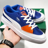 PUMA Suede Skate New fashion letter print contrast color shoes