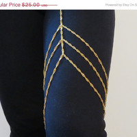 Sized Golden Leglet Body Chain Jewelry, Leg Chain, Sexy, Body Chain, Thigh Chain, Custom, Sized, Chain Jewelry, Body Jewelry, Belly Chain,