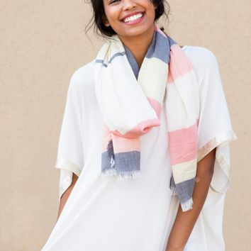 Sea Breeze Scarf in Coral | Monday Dress Boutique