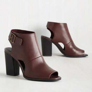 Seychelles Battery Leather Heel in Mahogany | Mod Retro Vintage Heels | ModCloth.com
