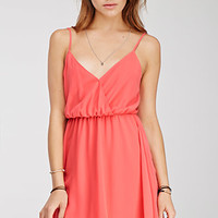 Chiffon Surplice Cami Dress