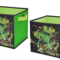 Nickelodeon  Teenage Mutant Ninja Turtles Storage Cubes, Set of 2, 10-Inch