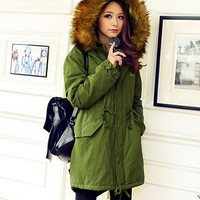 'The Layla' Winter Parka Fur Collar Hooded Long Coat