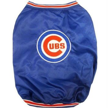 spbest Chicago Cubs Pet Dugout Jacket