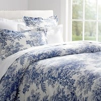 MATINE TOILE DUVET COVER & SHAM - TWILIGHT BLUE