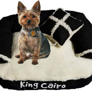 SALE! - black beds reduced in price in April! / Minature pet sofa /  Personalized Pet Bed / Small pets / cats or small dogs