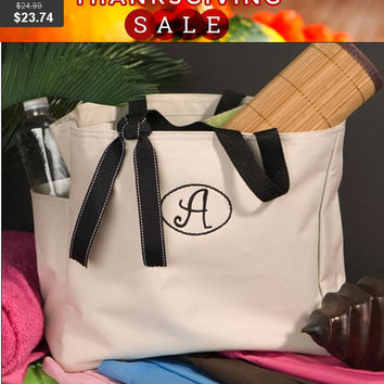 "Personalized Smart Gal ""Avery"" Tote , Custom tote bag , Womens Gift ,Bridesmaid Gift Toe Bag ,"