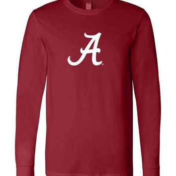 Official NCAA Venley University of Alabama Crimson Tide UA ROLL TIDE! Canvas Long Sleeve T-Shirt - 05CTAL