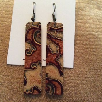 Fde1297 Handmade Leather Earrings