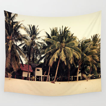 Bungalow Huts - Wall Tapestry