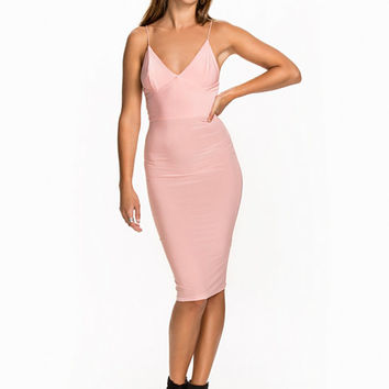 Slinky Strap Midi Dress, Club L Essentials