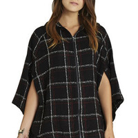 Hooded Poncho in Brown - BCBGeneration