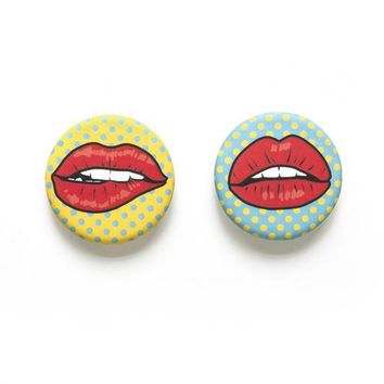 Red Lips Magnets